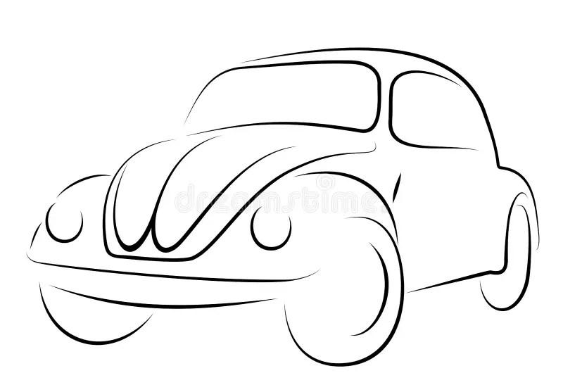 Car Volkswagen beetle stock vector. Illustration of