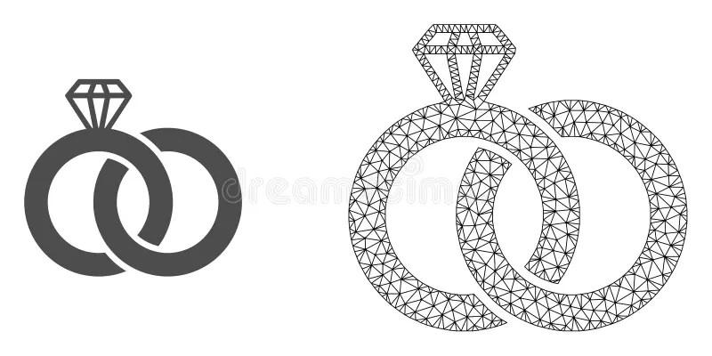 Anéis de casamento ilustração do vetor. Ilustração de