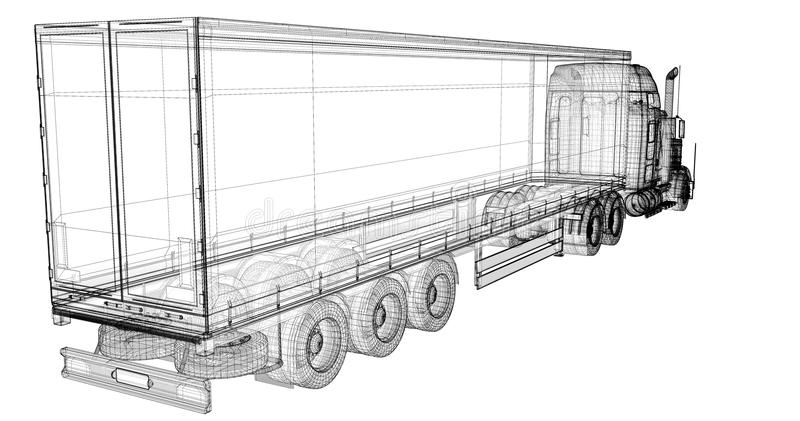 Freightliner stock illustration. Illustration of heavy
