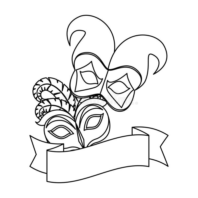 Harlequin Mask Stock Illustrations