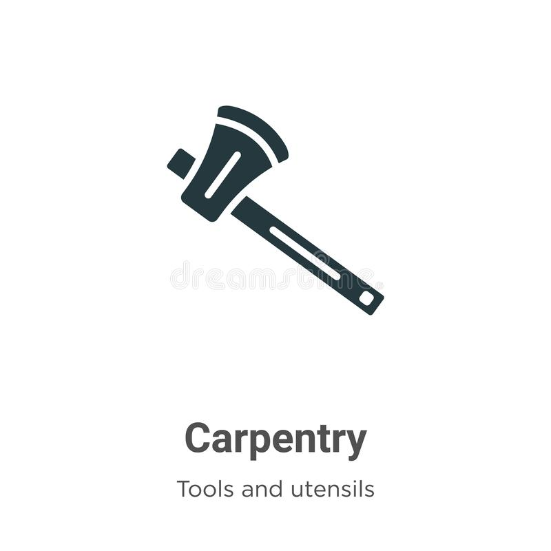 Carpentry Icon Vector Isolated On White Background