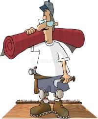 Carpet Layer stock illustration. Illustration of tackstrip ...
