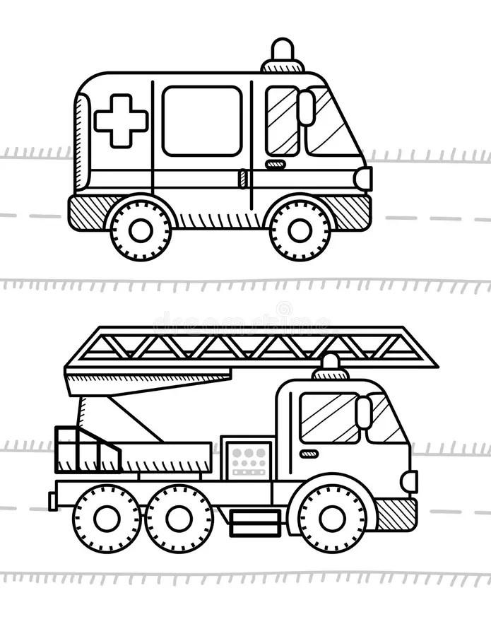 Fireman. Coloring Page. Educational Game. Printable