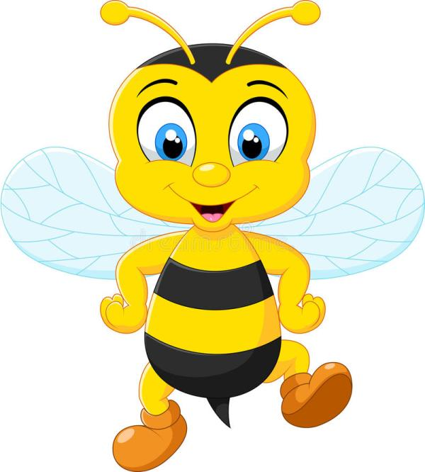 Cartoon Adorable Bees Posing Stock Vector - Illustration