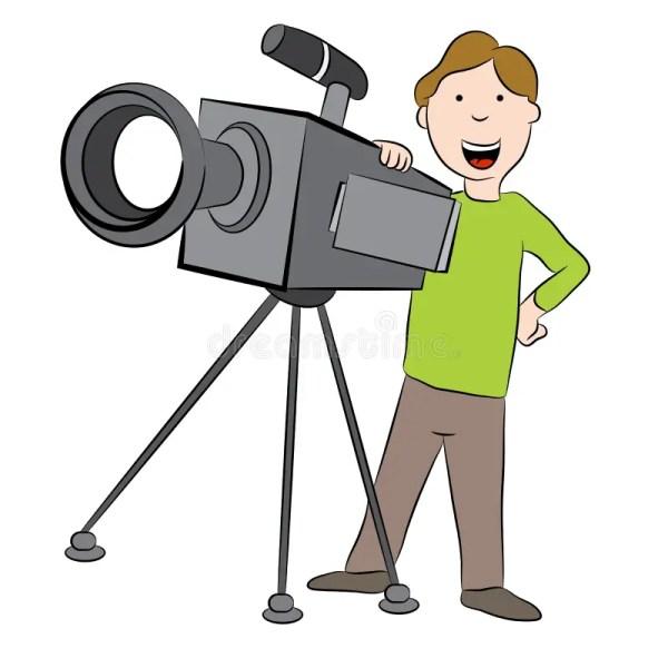Cartoon Cameraman With Camera Stock Vector - Illustration