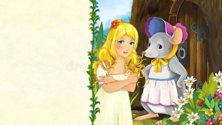 fairy tale illustration manga children cartoon scene young citadel colorful