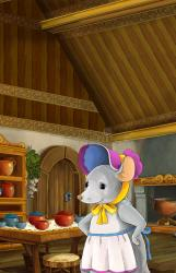 kitchen cartoon fairy tale scene mouse illustration traditional children preview