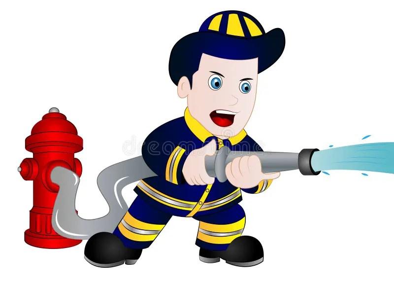 cartoon fireman stock illustrations