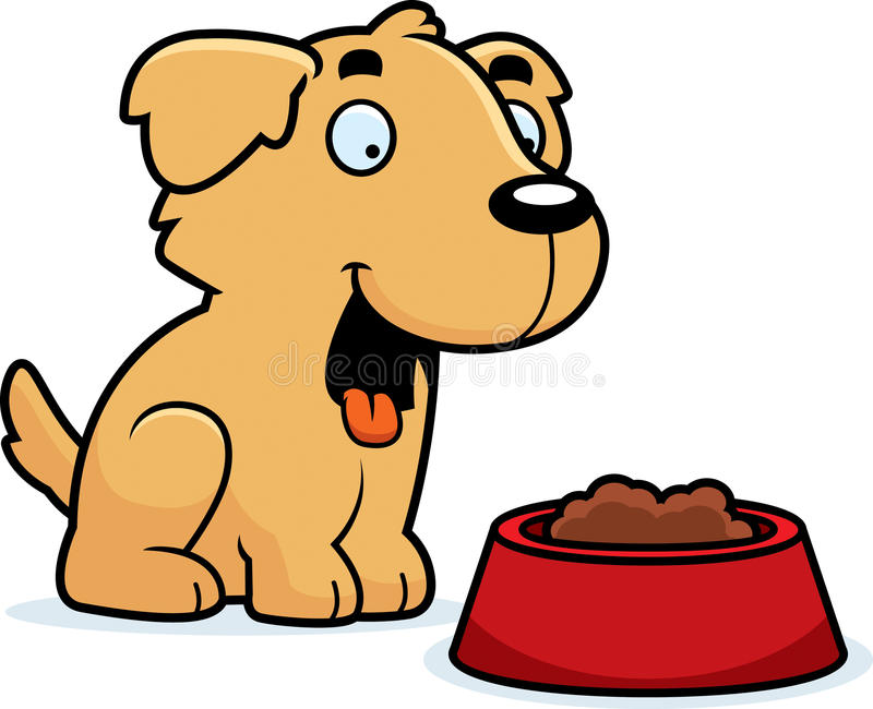 Pet Eating Cartoon Clip Art