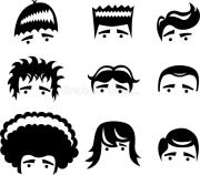 cartoon hair styles stock vector