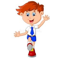 student cartoon happy karikatur fumetto beeldverhaal felice gelukkige studente della ragazza illustratie kleiner junge illustrazione gluecklicher spielt gelukkig bambina weinig