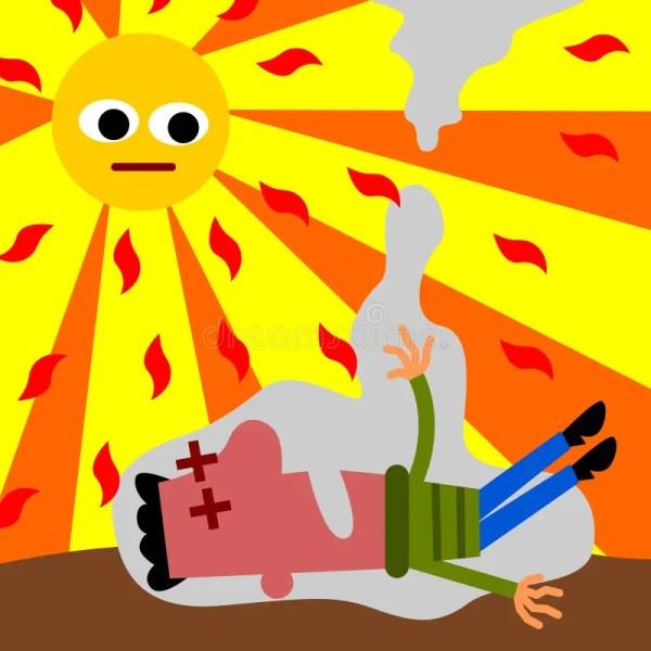 Heat Stroke Stock Illustration. Illustration Of Male
