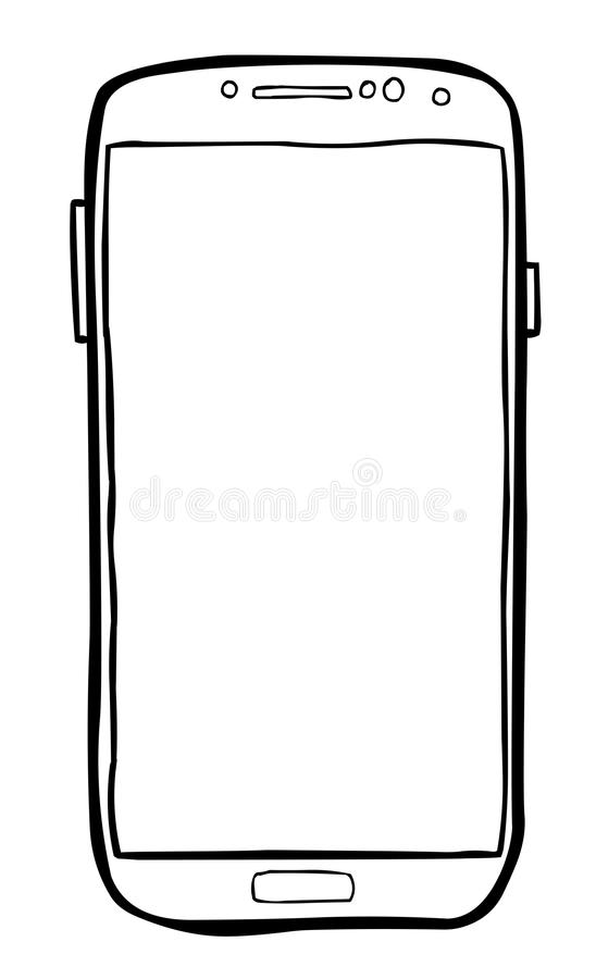 Cartoon Image Of Cellphone Icon. Smartphone Pictogram