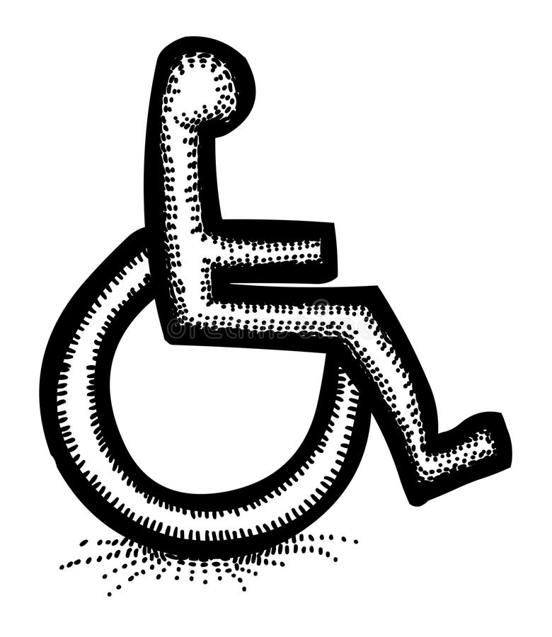 Cartoon Image Of Handicap Icon. Accessibility Symbol Stock