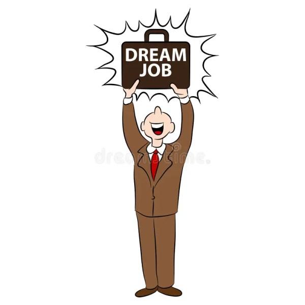cartoon man dream job stock