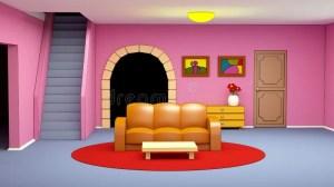 cartoon living illustration sofa marina 3d child
