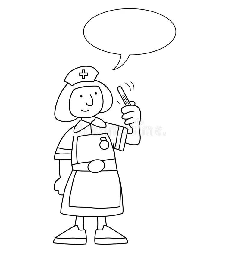 Cartoon Nurse stock vector. Illustration of nursing