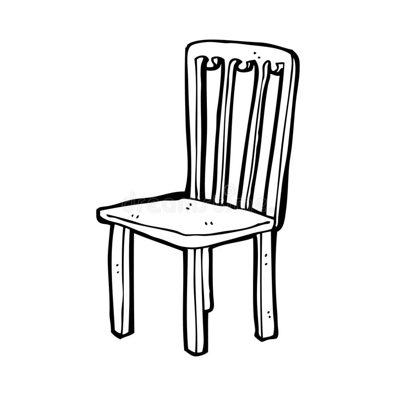 Cartoon old chair stock illustration. Illustration of