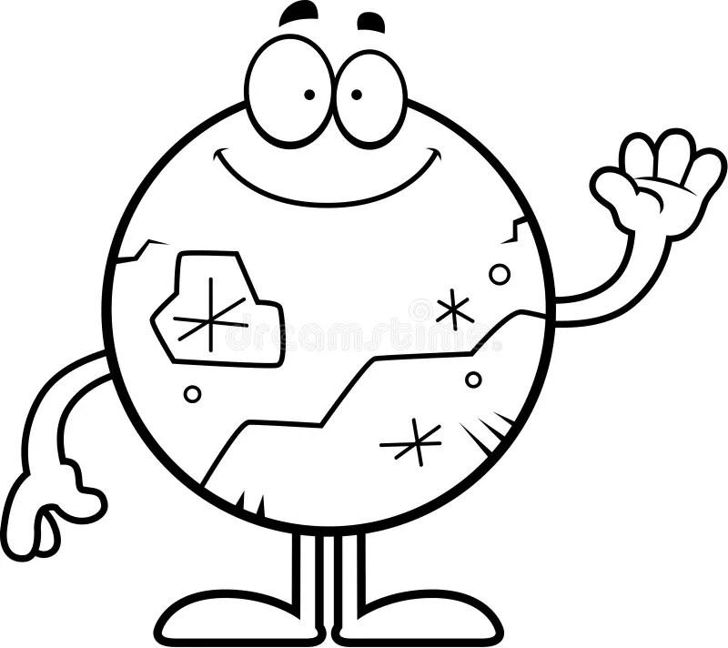 Cartoon Pluto Idea stock vector. Illustration of space