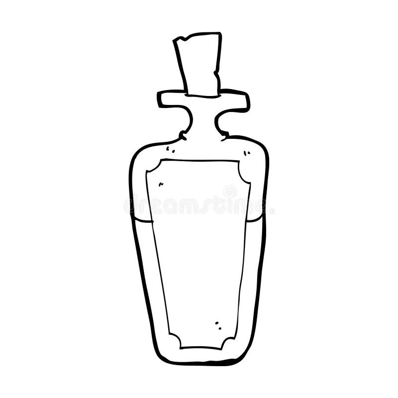 Cartoon potion bottle stock illustration. Illustration of