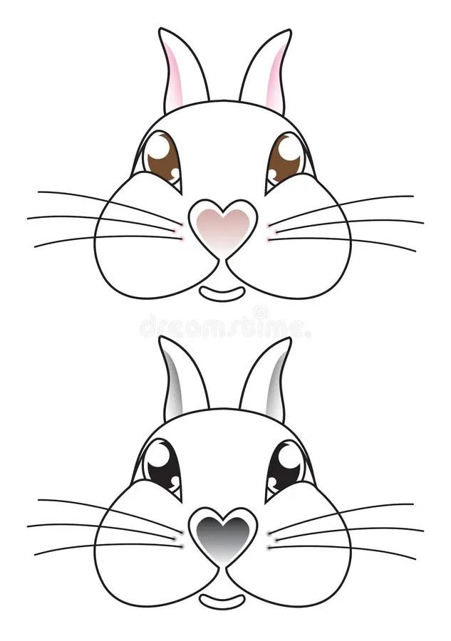 Rabbit Face Illustrations Stock Vector Illustration Of
