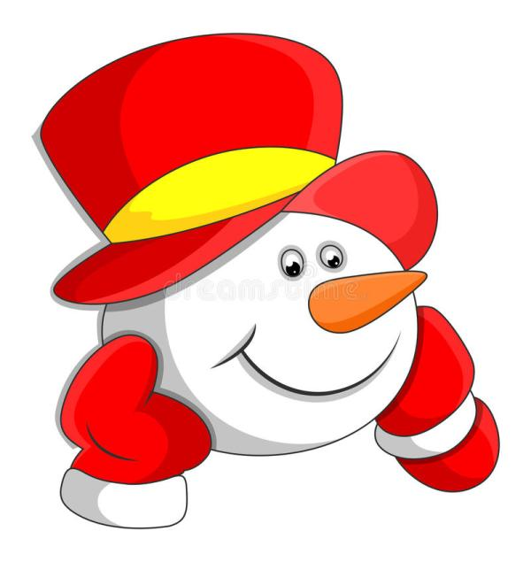 Snowman Cartoon Character Faces