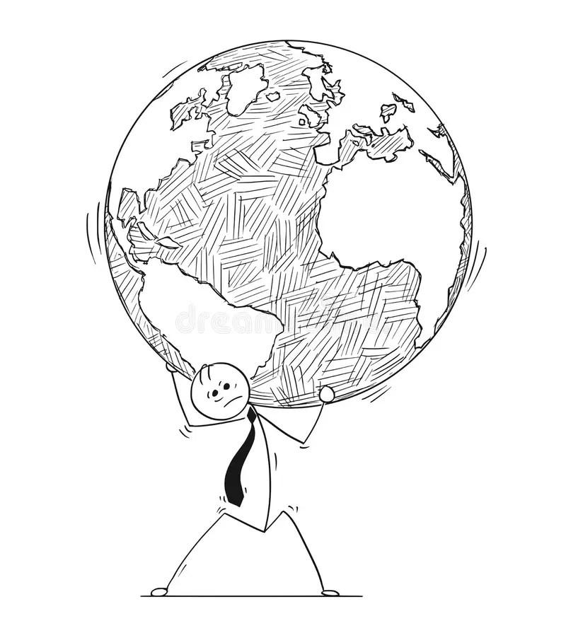 Weight World Stock Illustrations