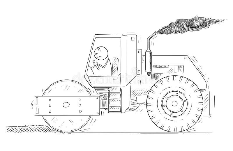 Tired Road cone cartoon stock illustration. Illustration