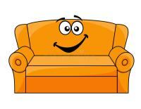 Cartoon upholstered couch stock vector. Illustration of ...
