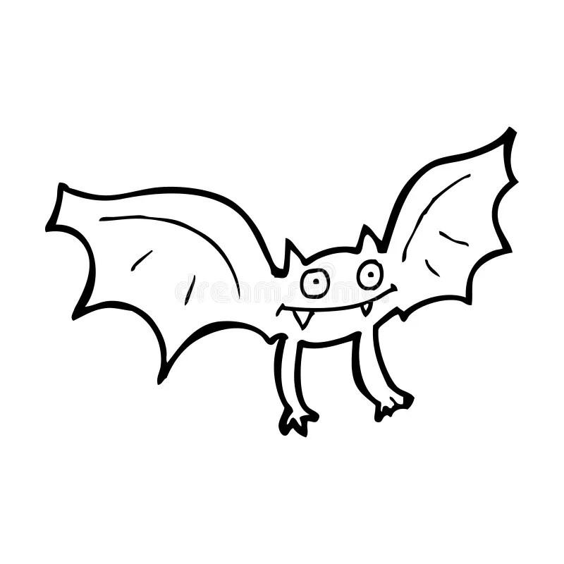 Cartoon vampire bat stock illustration. Illustration of