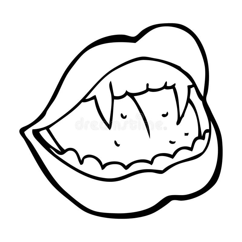 Cartoon vampire lips stock illustration. Illustration of