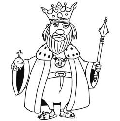 Cartoon Vector Medieval Fantasy King Stock Vector Illustration of design cute: 90113667
