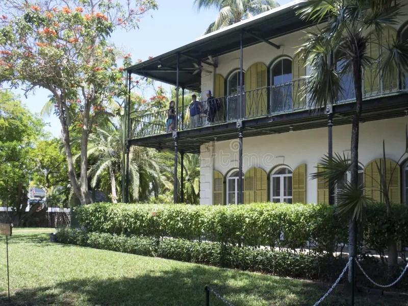 Gato Polydactyl Em Ernest Hemingway House Key West Foto
