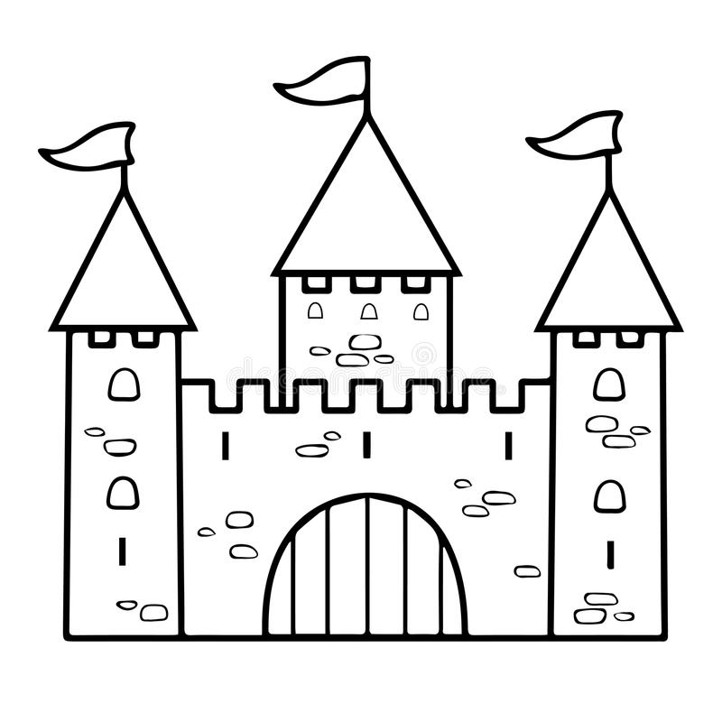 Isolated Medieval Gate Vector Drawing Or Coloring Stock