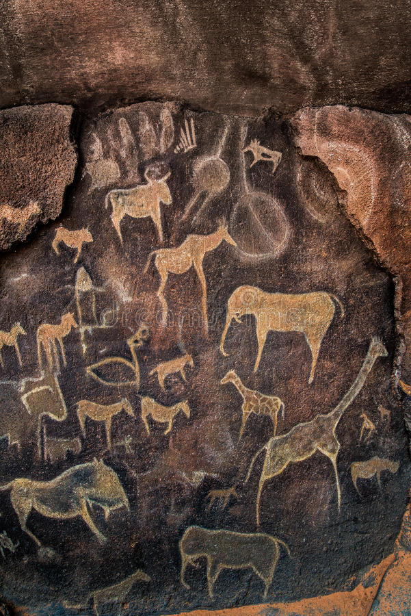 Cave Wall Painting Prehistoric Stock Photo Image 44439502