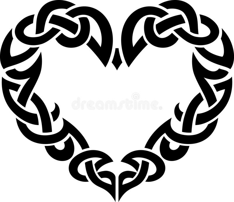 Download Celtic Abstract Heart Border Stock Illustration ...