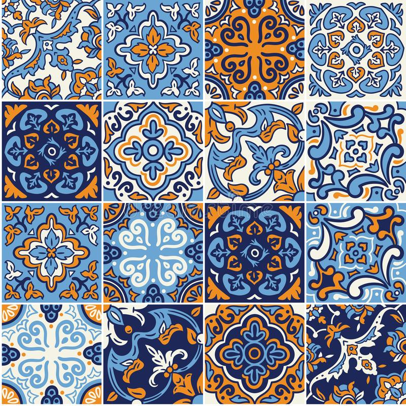 ceramic tile with colorful patchwork in