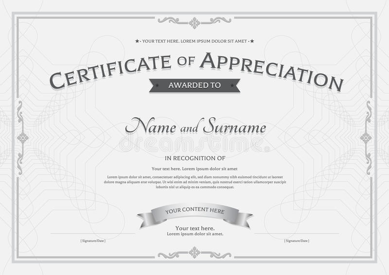 Certificate Of Appreciation Template In Nature Theme With