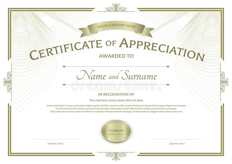 template for appreciation certificate