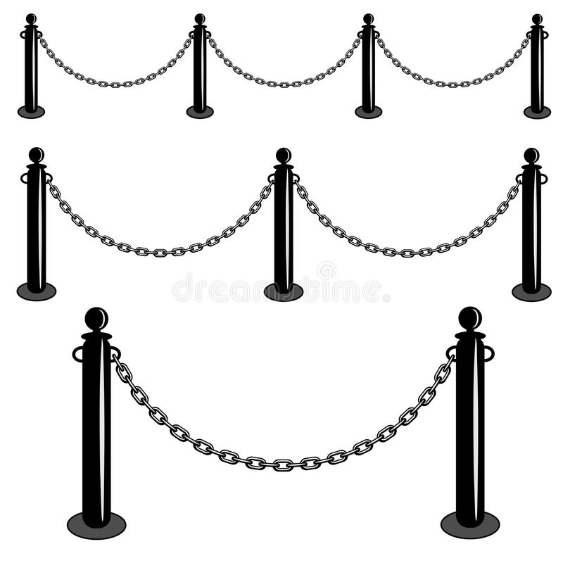 Security Barricade Vector Illustration Stock Vector