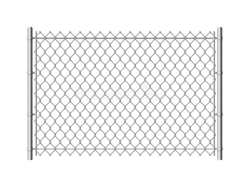Chain Fence, Iron Wire Fence. Stock Illustration