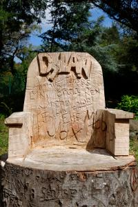 Chair Carved From A Tree Trunk Stock Image - Image of ...