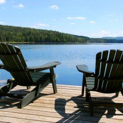 Plans Adirondack Chairs Free Acrylic On Dock Stock Image. Image Of Calmness, Holidays - 1291757