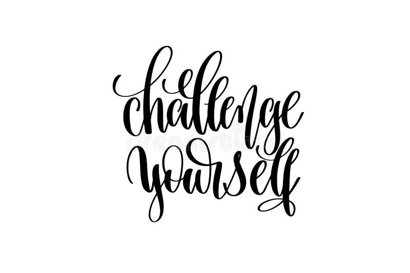 Challenge Yourself message stock illustration