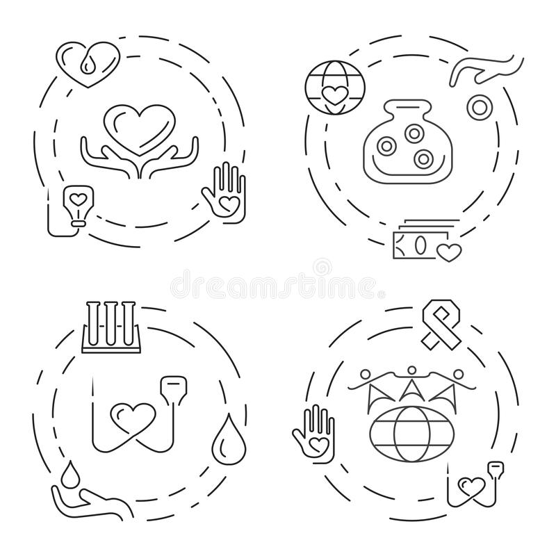 Charity And Donation Infographics Stock Vector