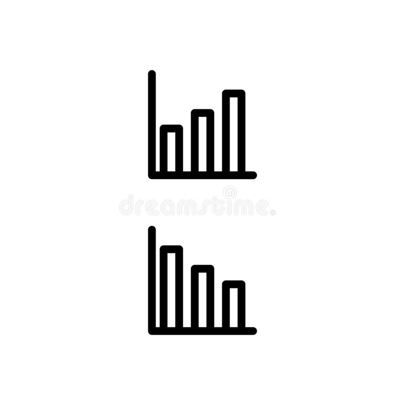 Block Diagram Line Icon. Path Scheme Sign. Vector Stock