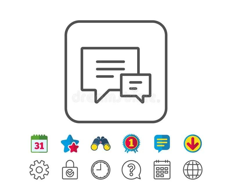 Chat Sign Icon. Speech Bubble Symbol. Stock Illustration