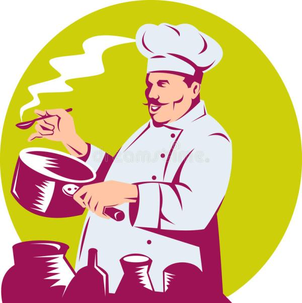 Chef Tasting Food Clip Art
