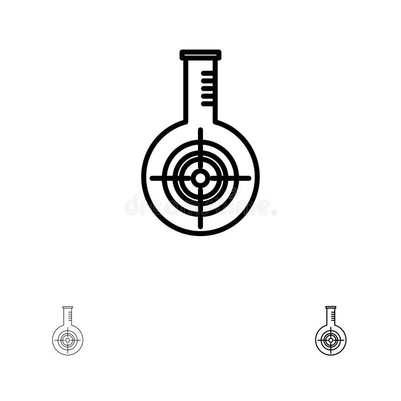 Medical Biology Interface In Black Stock Illustration