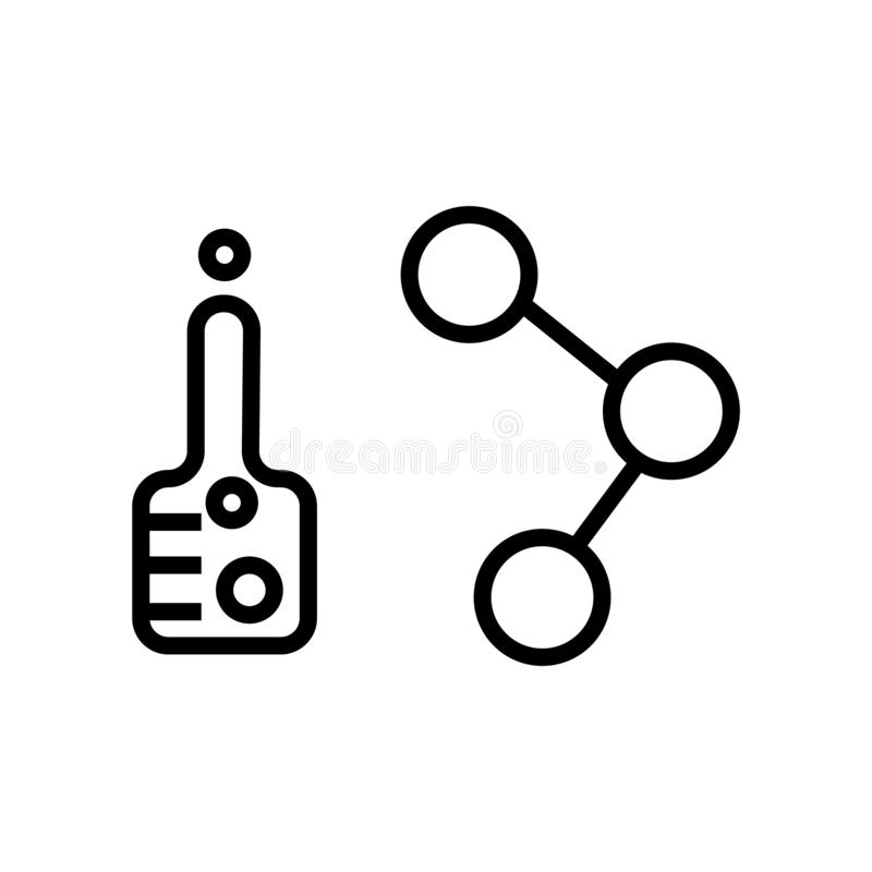 E=mc2 Equation and atom stock illustration. Illustration